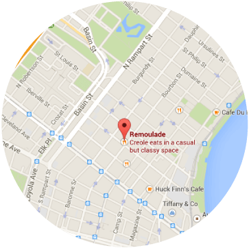 Remoulade location map